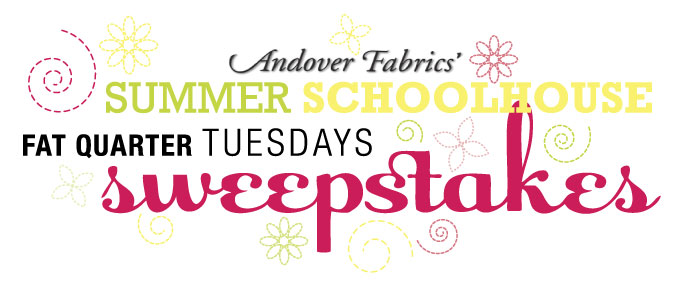 Andover Fabrics' Summer School Fat Quarter Tuesdays Sweepstakes